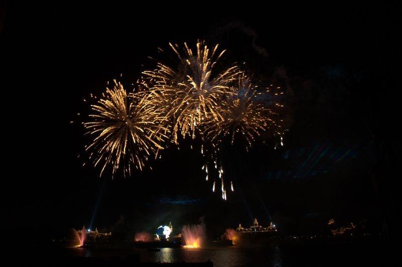 Epcot Center - Der See mit dem abendlichen Feuerwerk