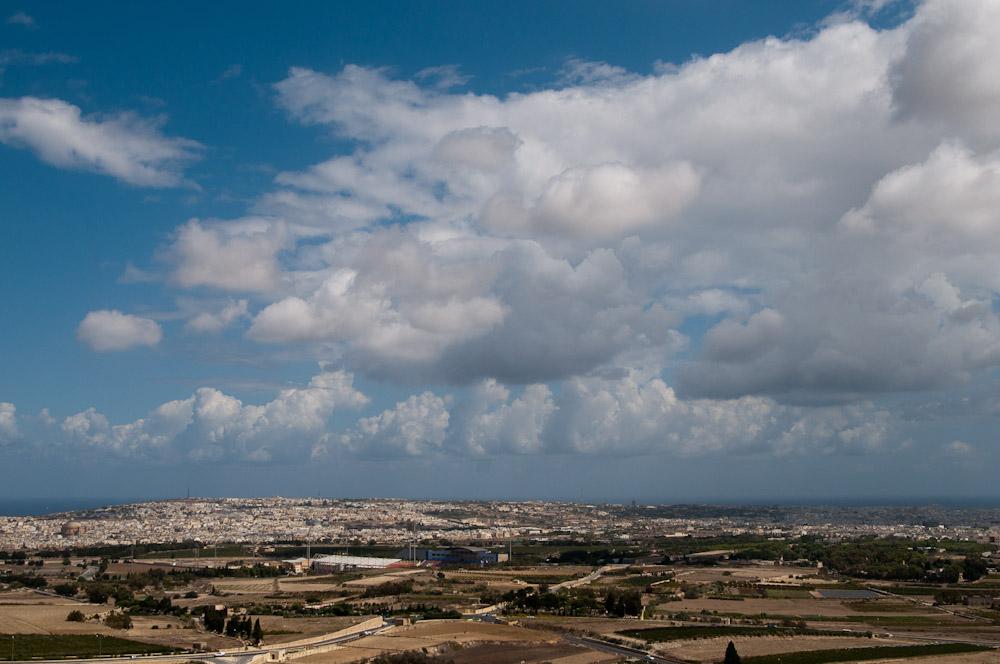 Aussicht von der Stadtmauer von Mdina