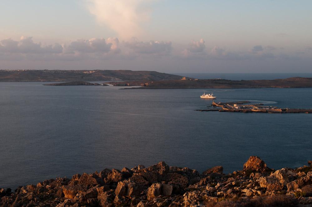 Noch ein Blick auf die Inseln Comino und Gozo