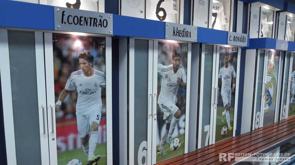 Estadio Bernabeu Umkleideraum Real Madrid