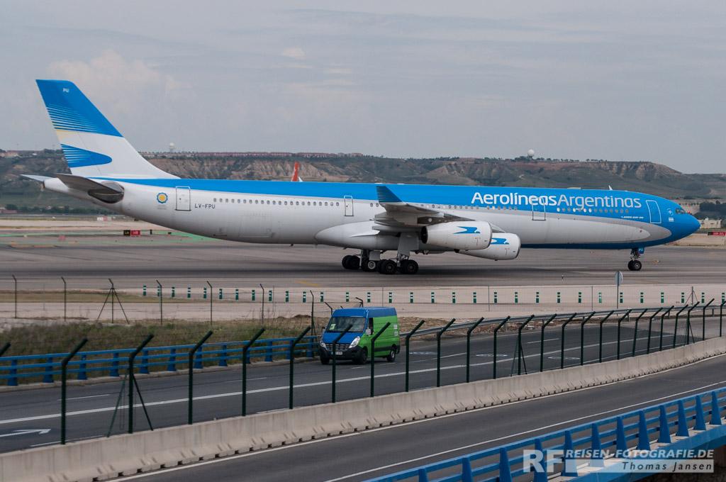 Madrid, Aerolineas Argentinas, A340