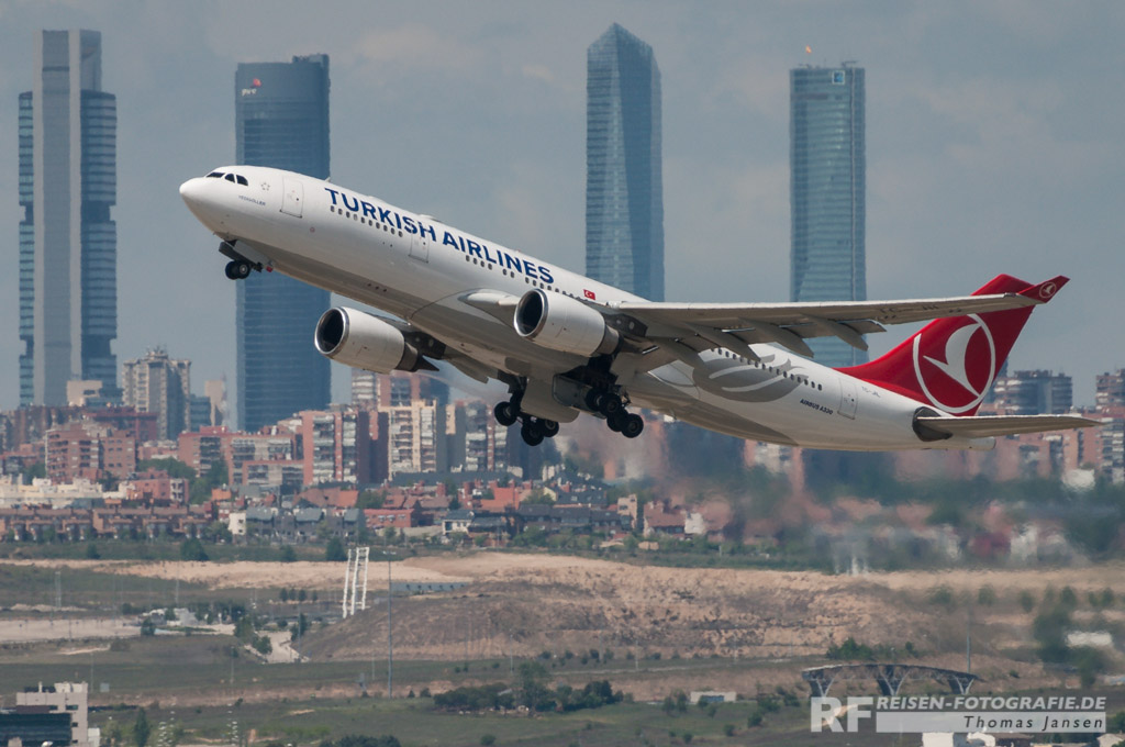 Madrid, Turkish Airlines, A330