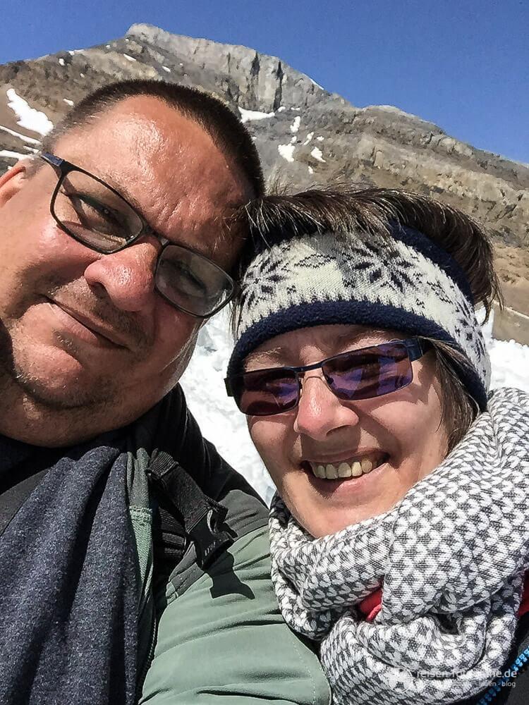 Melanie und Thomas im Schnee