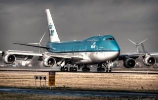 HDR KLM Amsterdam Landing