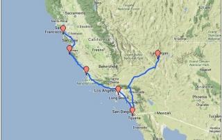 Karte Route 1