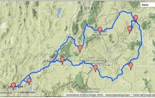 Karte Route 2