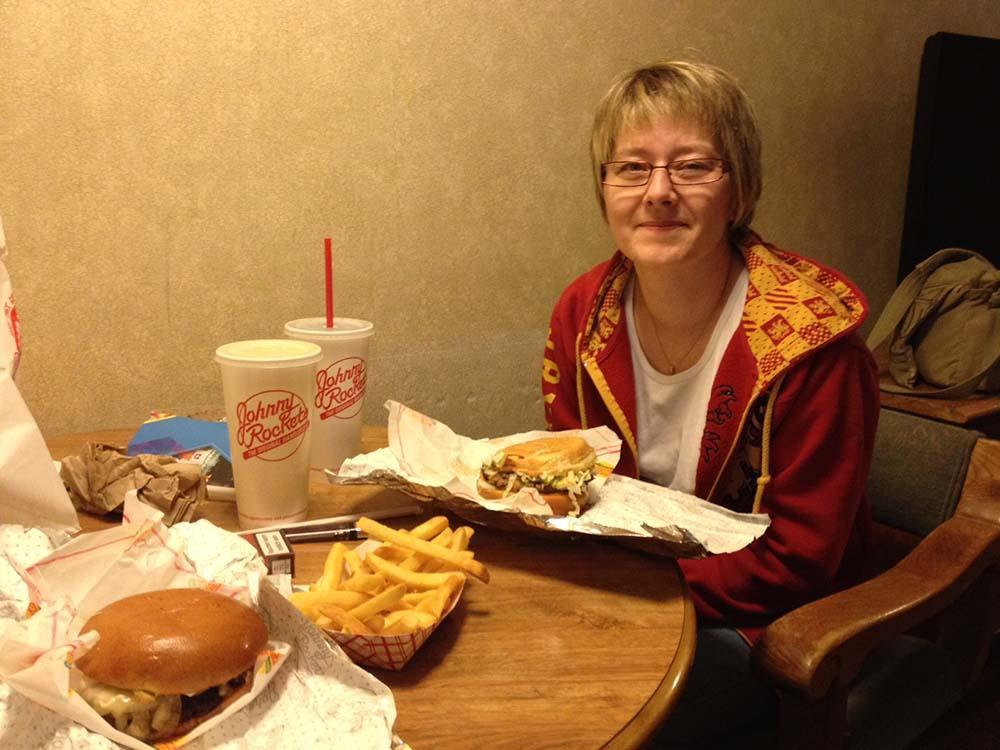 Burger auf dem Zimmer