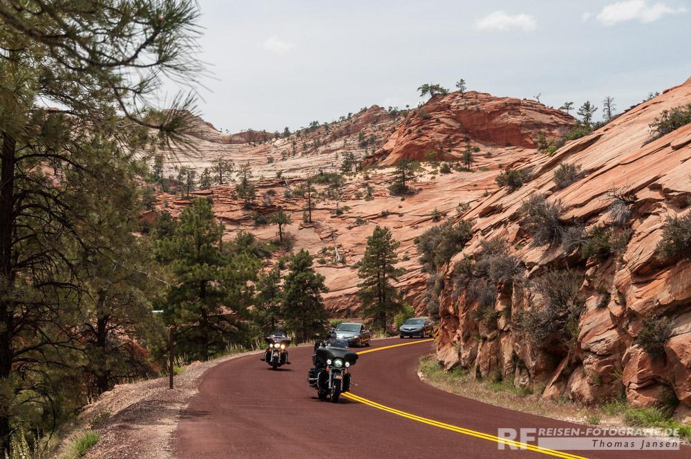 Rote Steine in Utah