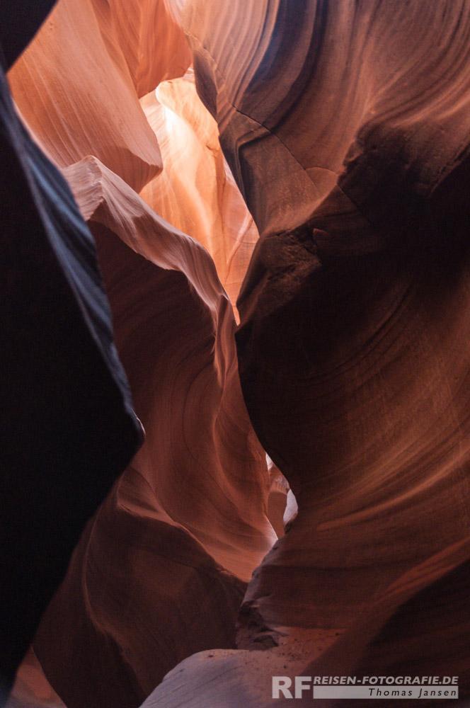 Antelope Canyon Blick nach oben