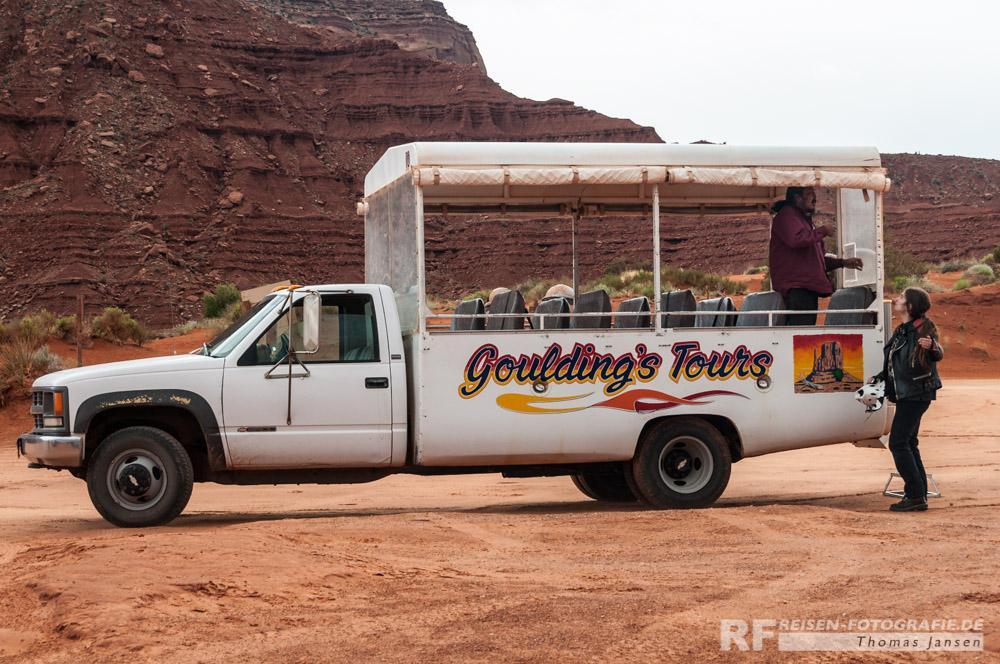 Unser Taxi durch das Monument Valley