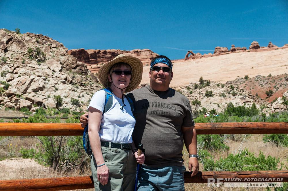 Wir zwei beiden im Arches Nationalpark