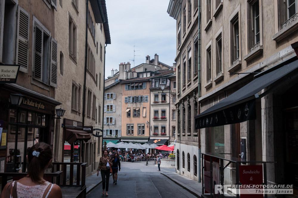 Gassen in Genf