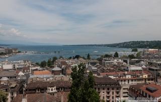 Blick über Genf und den See