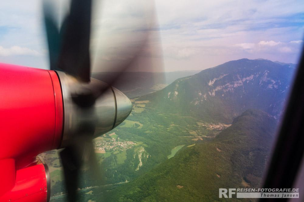 Anflug auf Genf