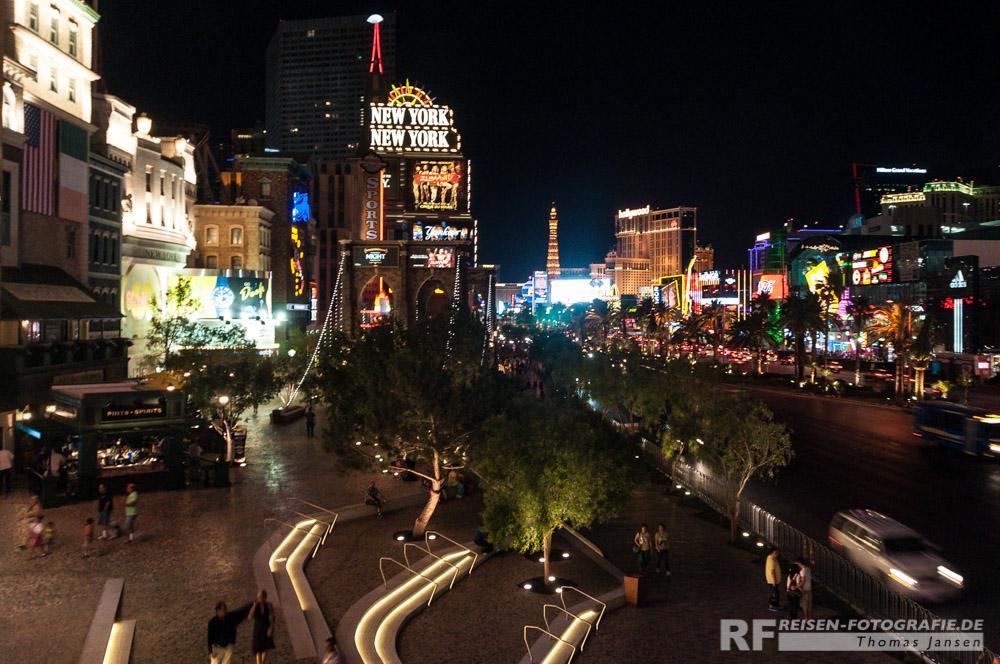 Nächtlicher Strip in Las Vegas