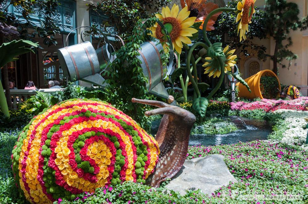 Blumenshow im Bellagio