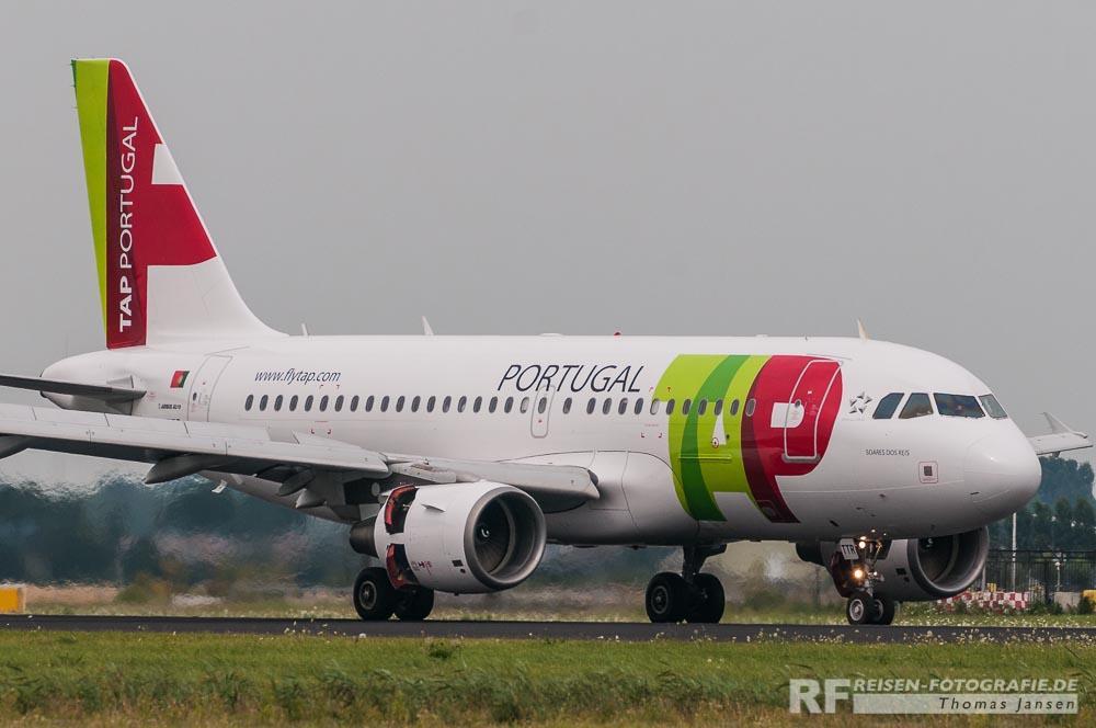 TAP A319 aus Portugal nach der Landung