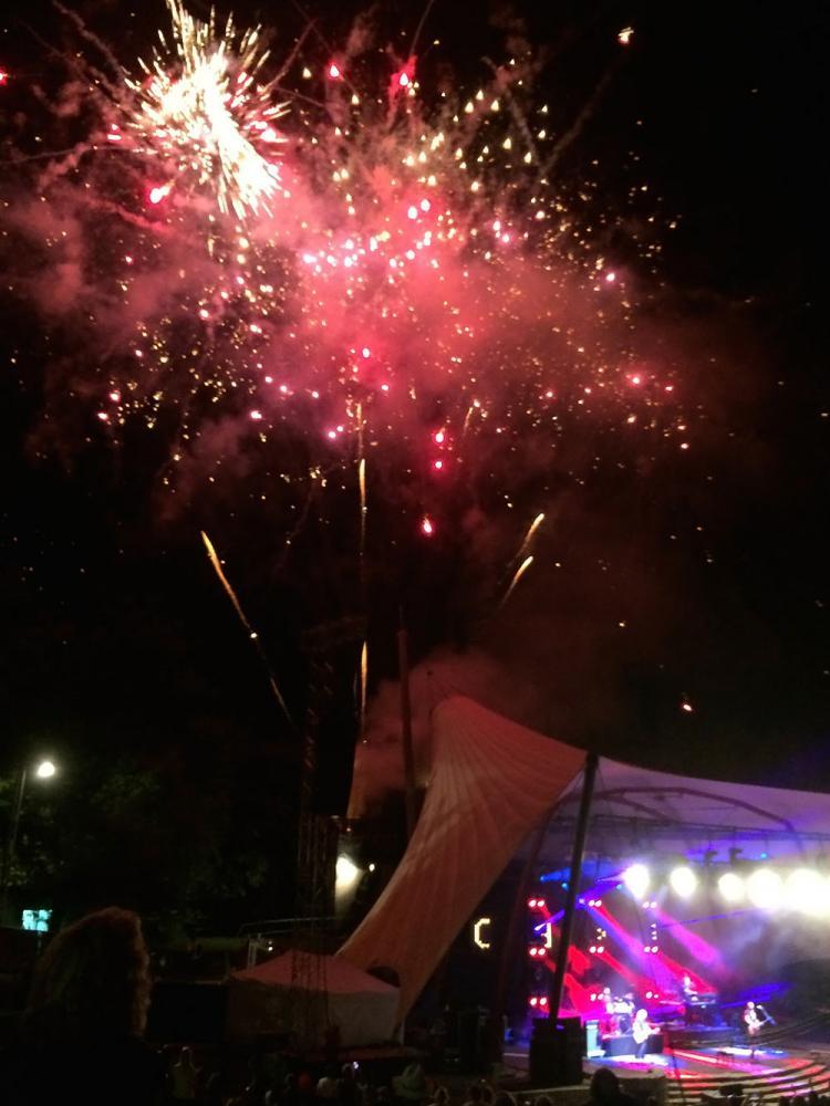 Feuerwerk auf der Loreley