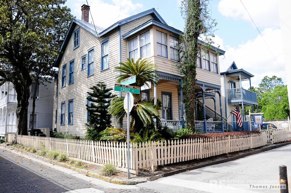 Schöne Häuser in St. Augustine