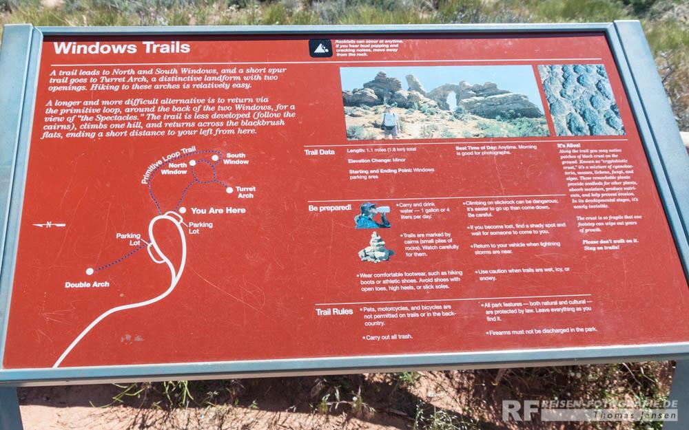 Gut beschriebene Trails findet man überall