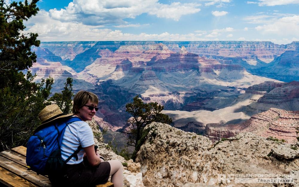 Wanderpause mit Aussicht