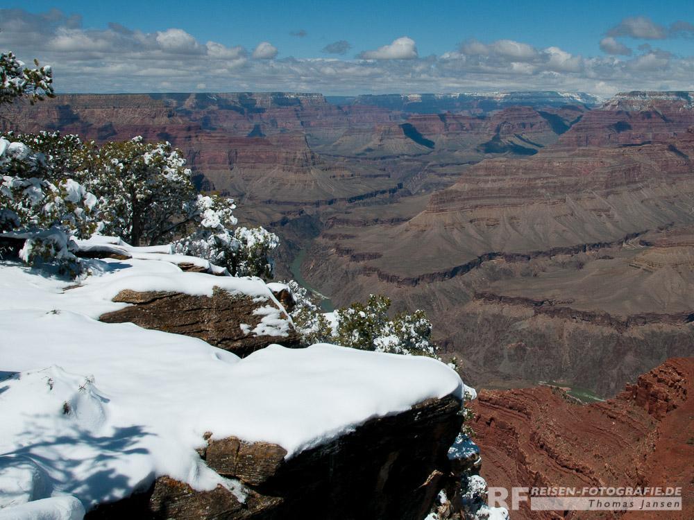 Auch im Winter ist der Gand Canyon einen Besuch wert
