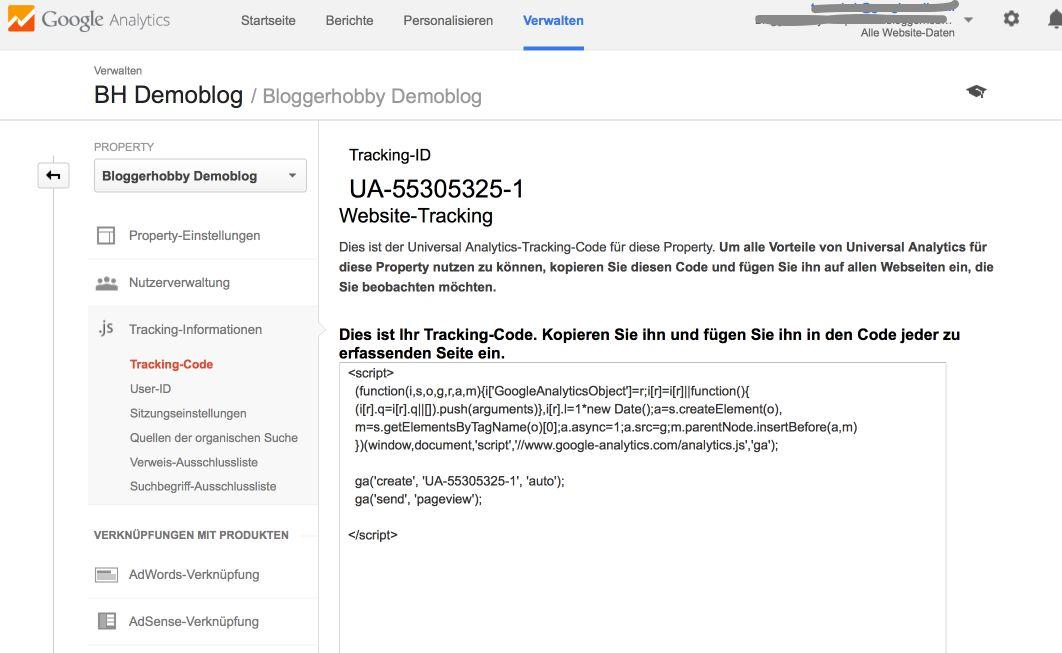 Tracking Code und -ID