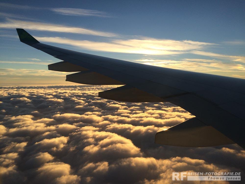 Landeanflug auf Boston