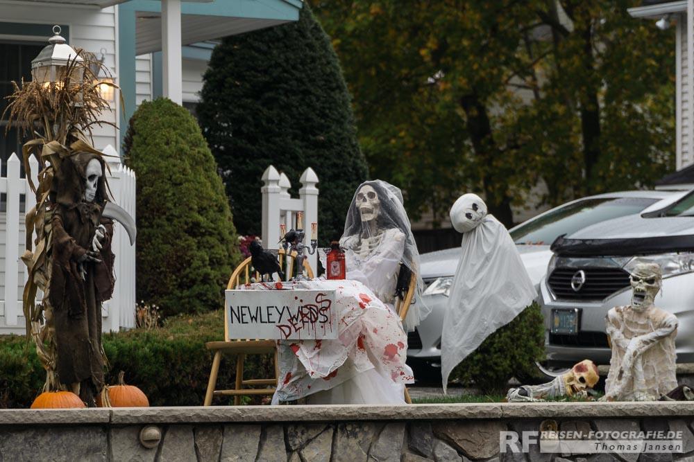 Vorgarten zu Halloween