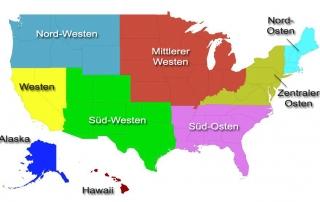Regionen der USA - Variante 1