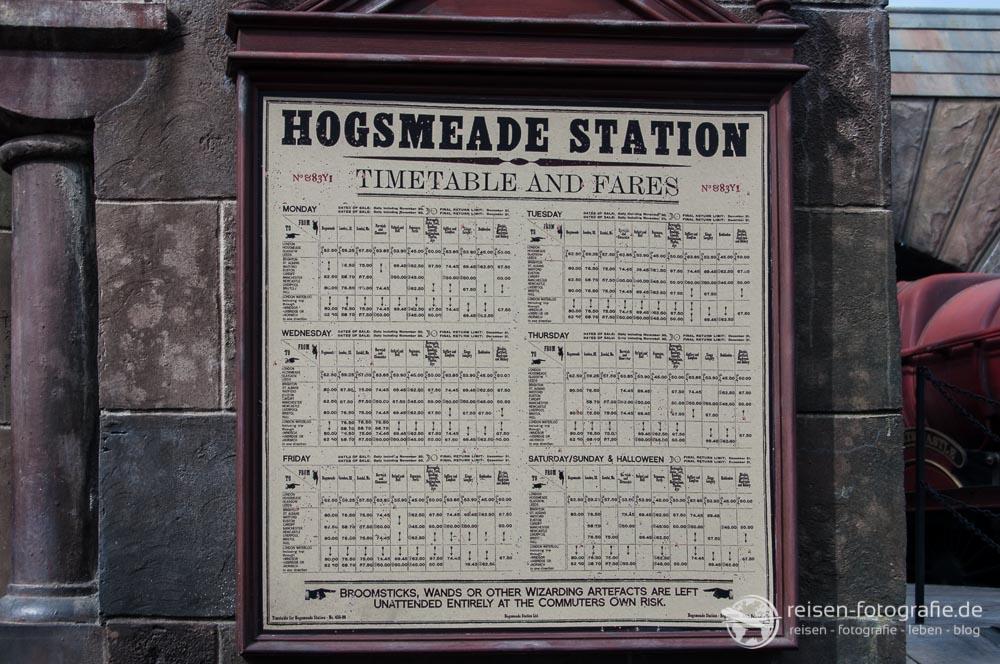 Hogwarts Express - Fahrplan