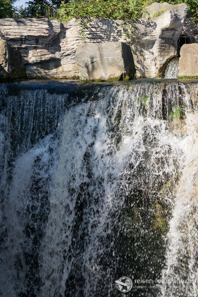 Wasserfall kurze Belichtung