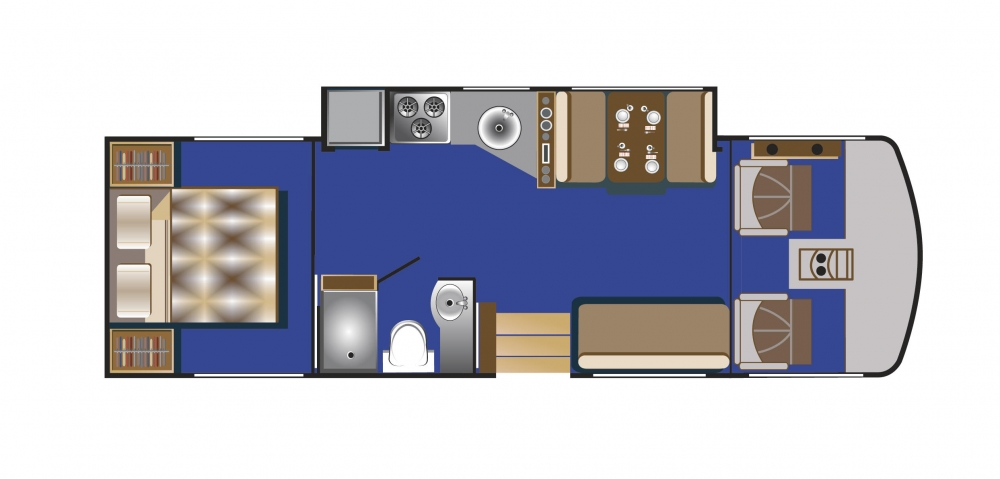A-Klasse Wohnmobil Aufteilung Tag