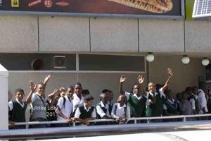 Schulklasse in Kapstadt – fröhlich, interessiert und aufgeschlossen sind die Menschen am Kap
