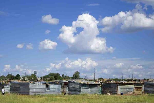 Auch das gibt es noch: Townships, hier in der Nähe von Kimberley