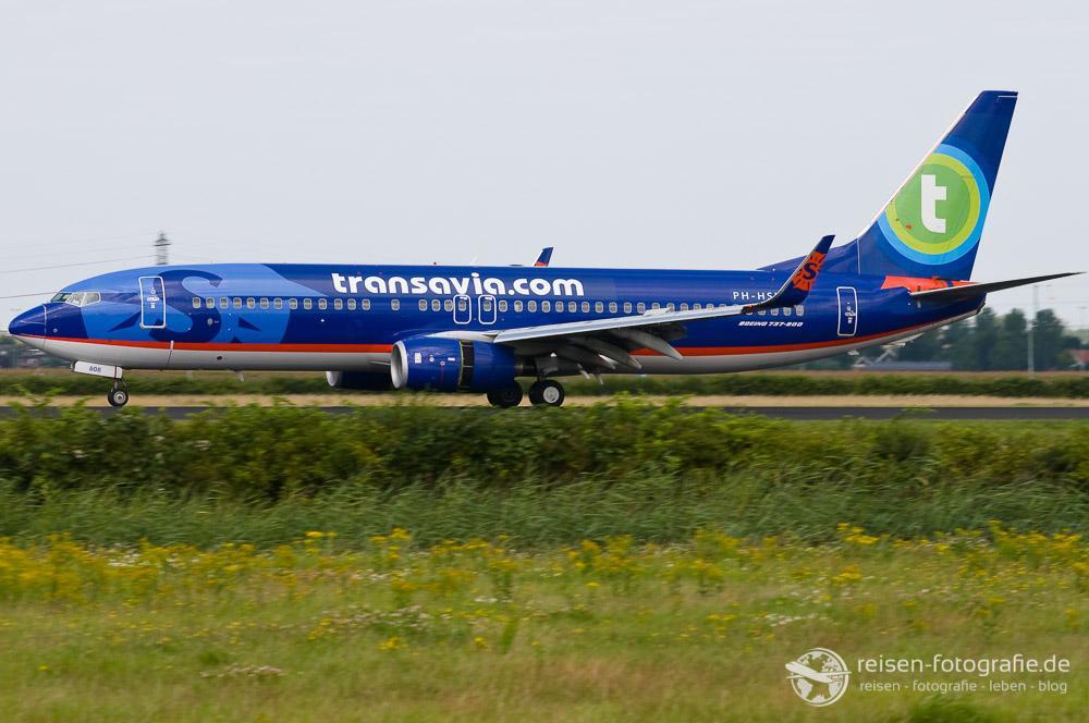 Transavia mit Sun Country Lackierung