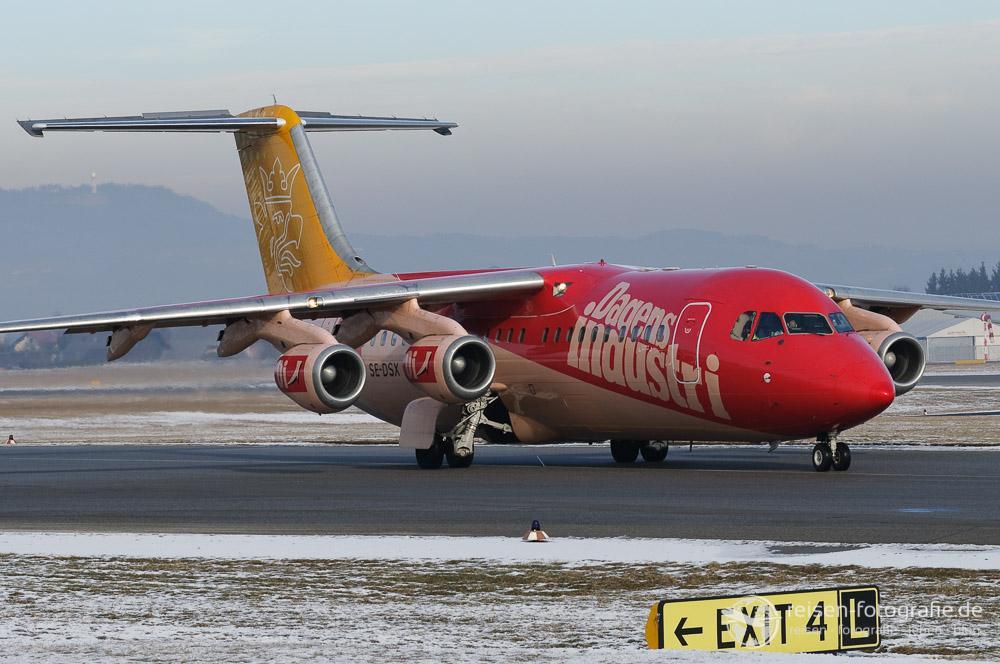 Werbung auf der schwedischen Malmo Aviation