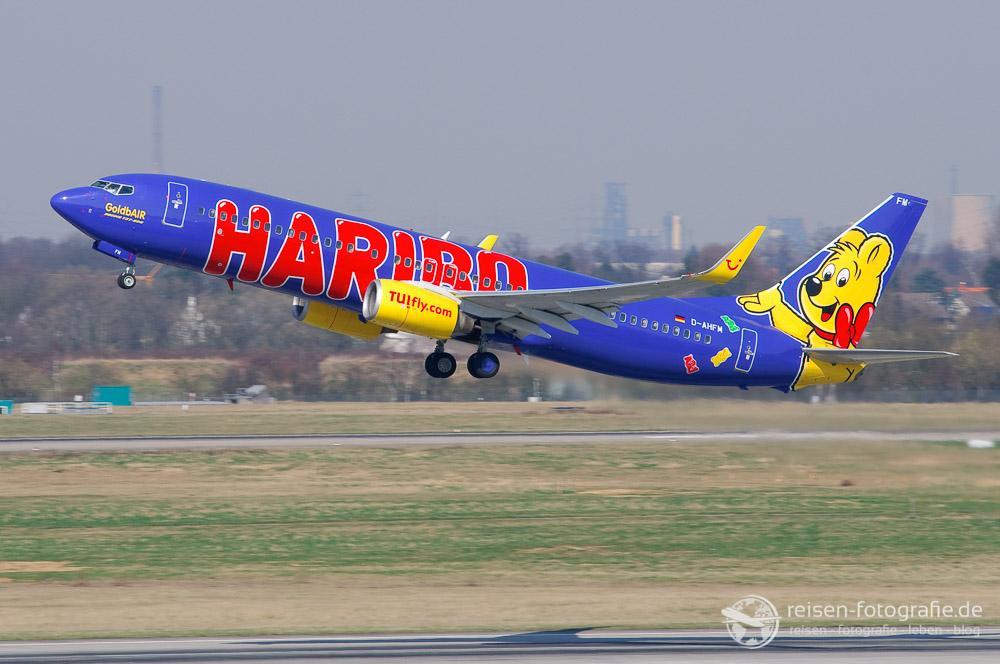 Der Haribo Goldbären Flieger von TUI Fly