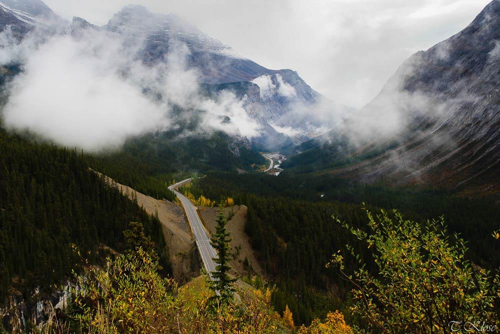 Blick auf den Icefields Parkway, Alberta