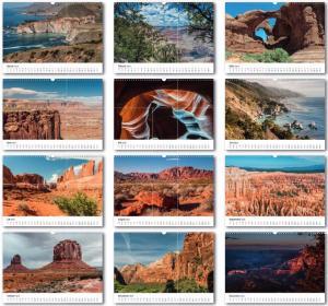 Kalender USA Landschaft und Sehnsucht - Uebersicht