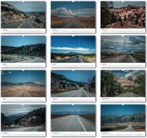 Kalender USA Roads - Übersicht