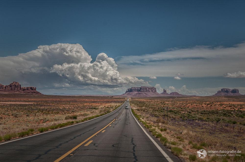 Highway 163 - Arizona - Zufahrt auf das Monument Valley