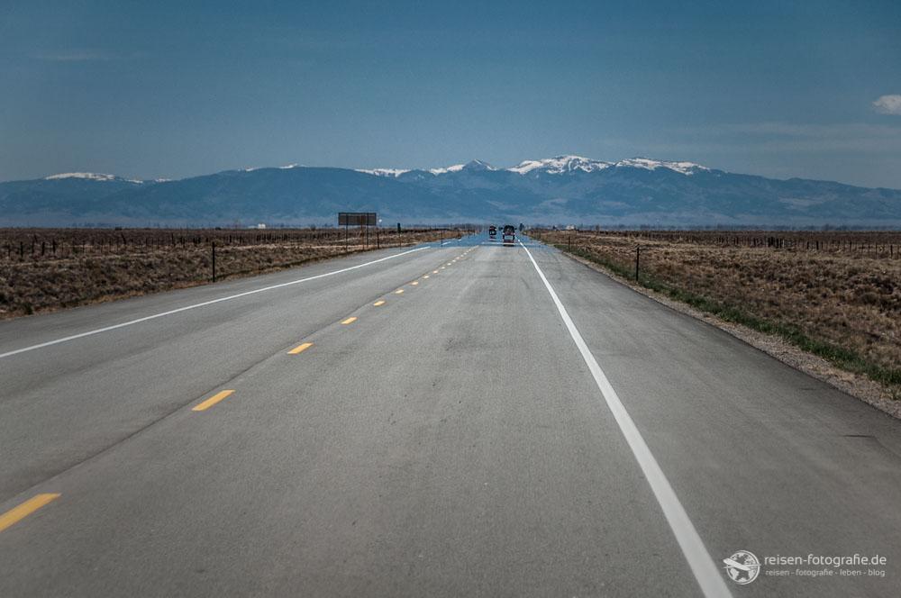 Highway 160 - Zufahrt auf die Rocky Mountains