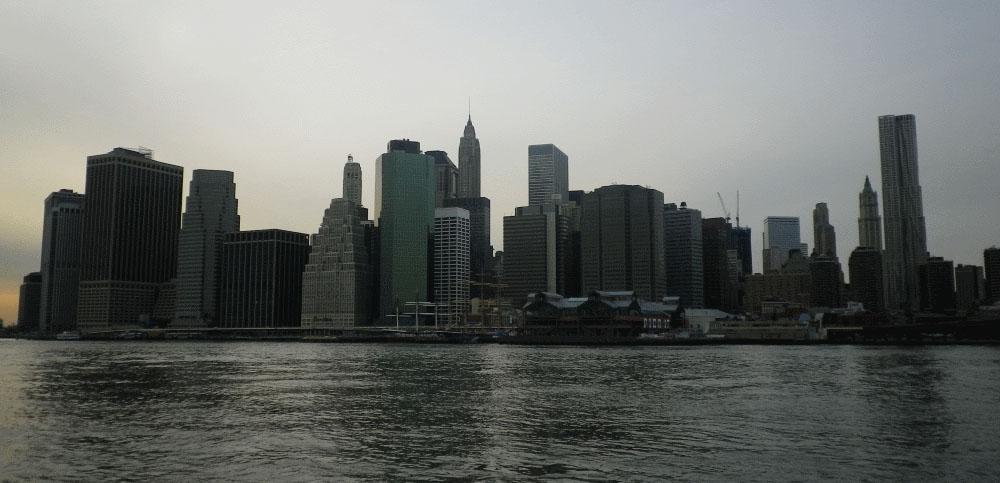 Abendliche Skyline New York