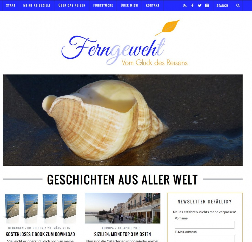 Der Blog von Sabine: Ferngeweht