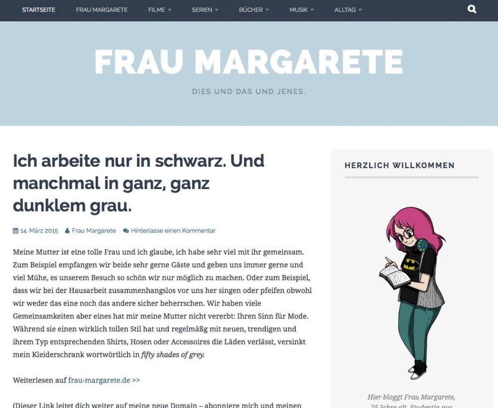 """Der Bloag von Katie - """"Frau Margarete"""""""