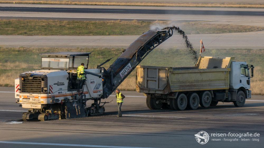Bauarbeiten an der Runway