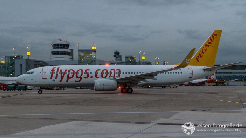 Pegasus auf dem Weg zu Start Richtung Türkei