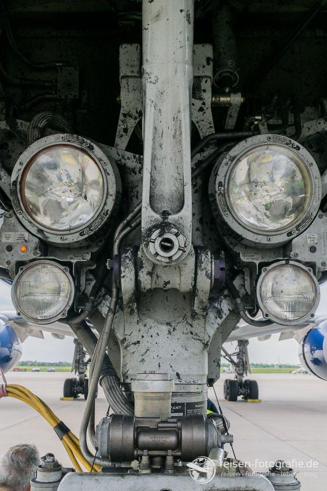 Scheinwerfer der Boeing 767-400
