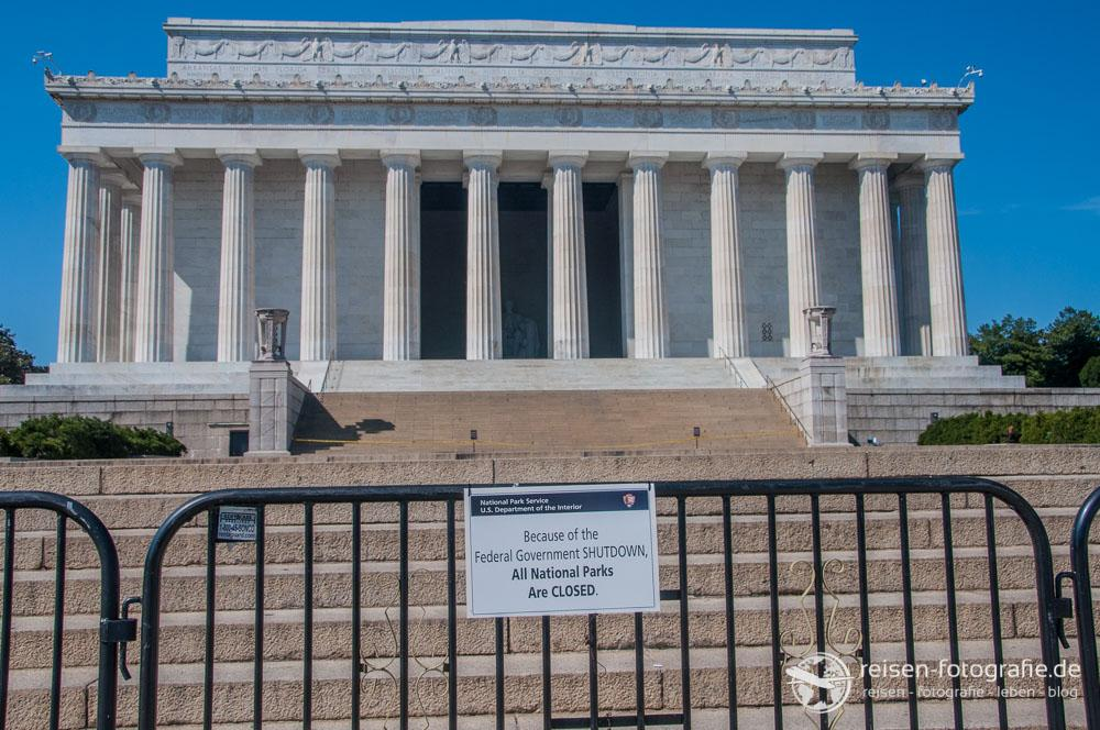 Lincoln Memorial Shutdown